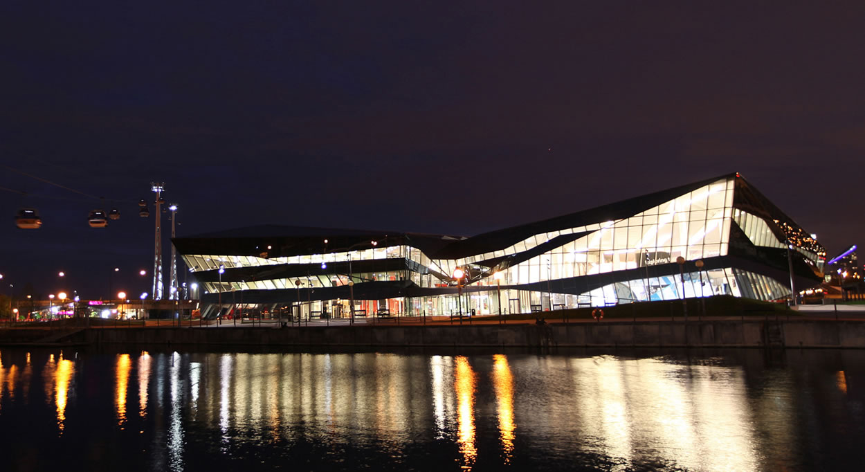 The Crystal at night