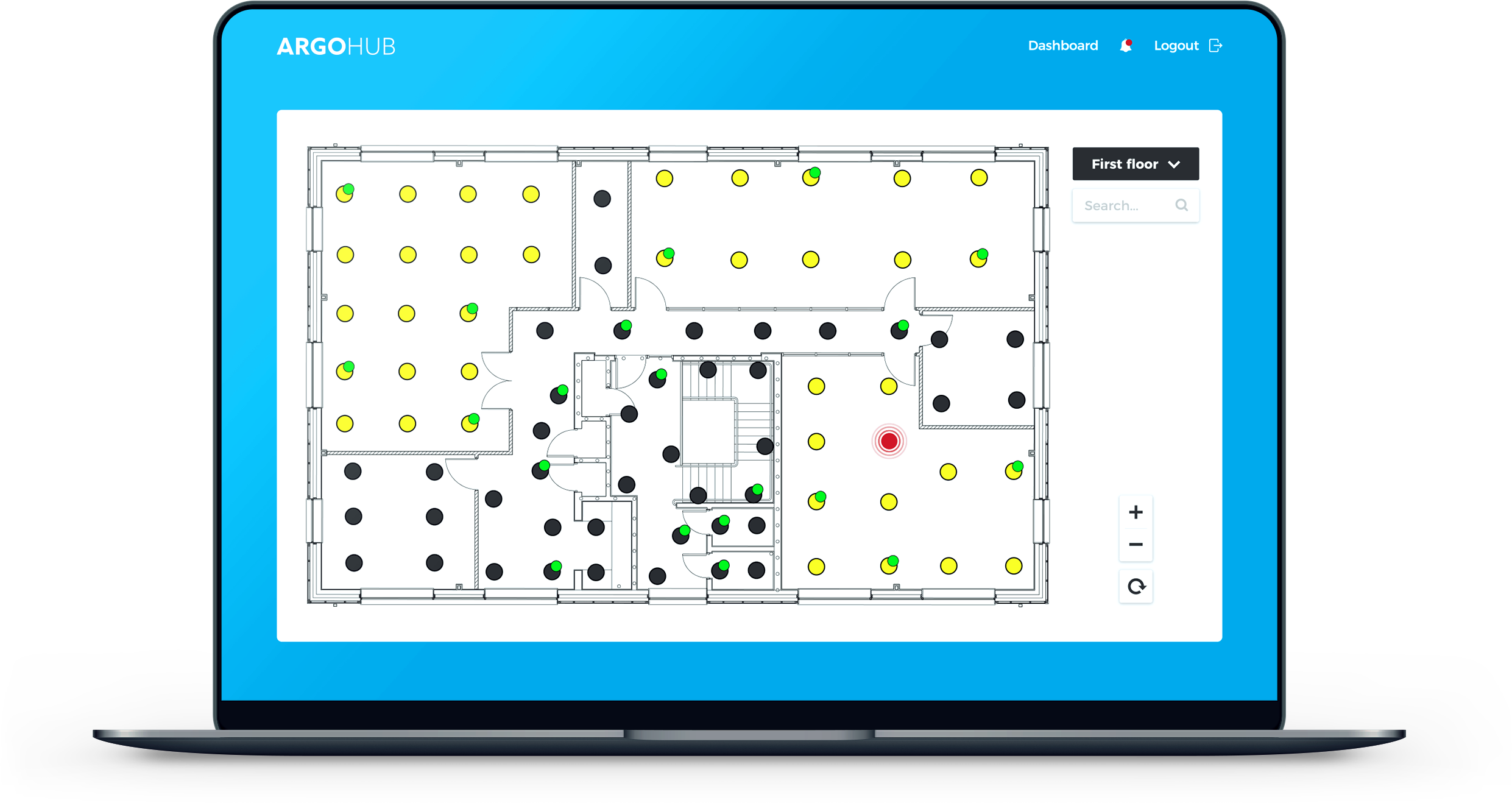 ARGOHub software floorplan view